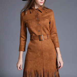 2016-Spring-New-Arrival-Autumn-font-b-Women-b-font-One-piece-Dress-Imitated-Suede-Slim